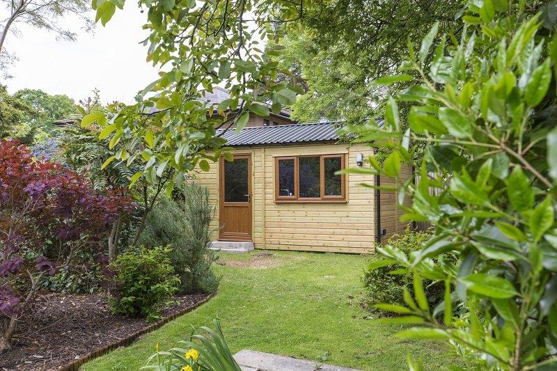 Cladco Box Profile 34/1000 on garden workshop