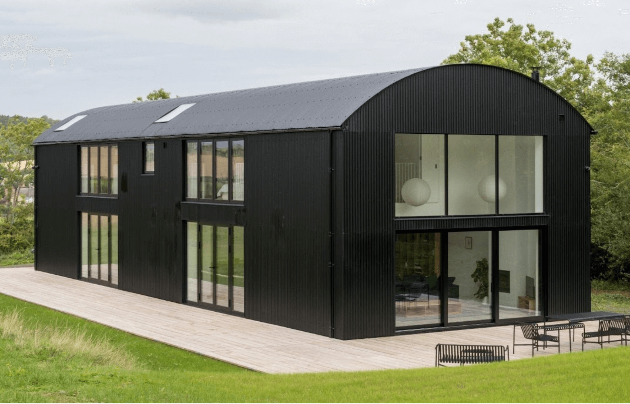 Modern take on a barn conversion