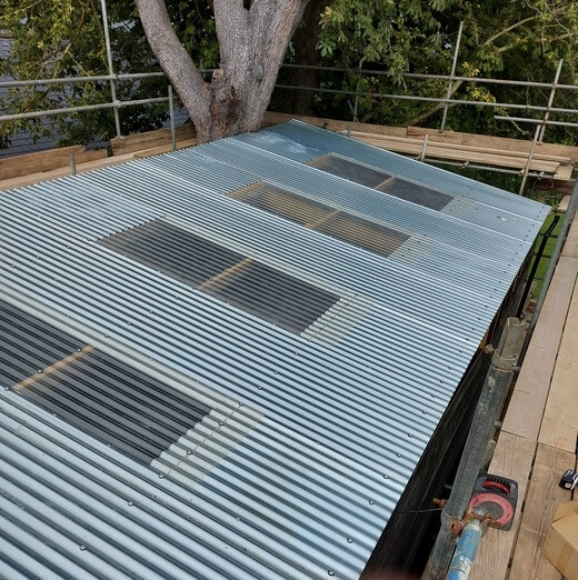 Barn with Corrugated Galvanised Roofing Sheets