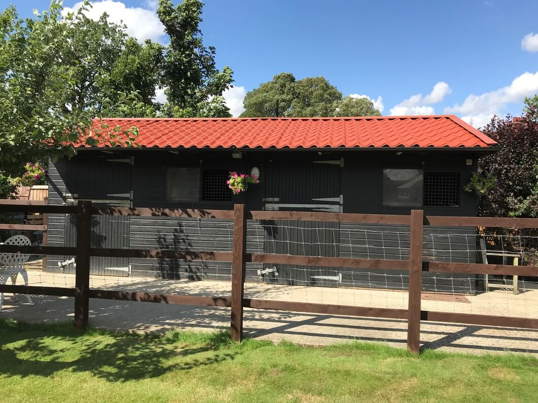Stable with Copper Tileform roofing sheets